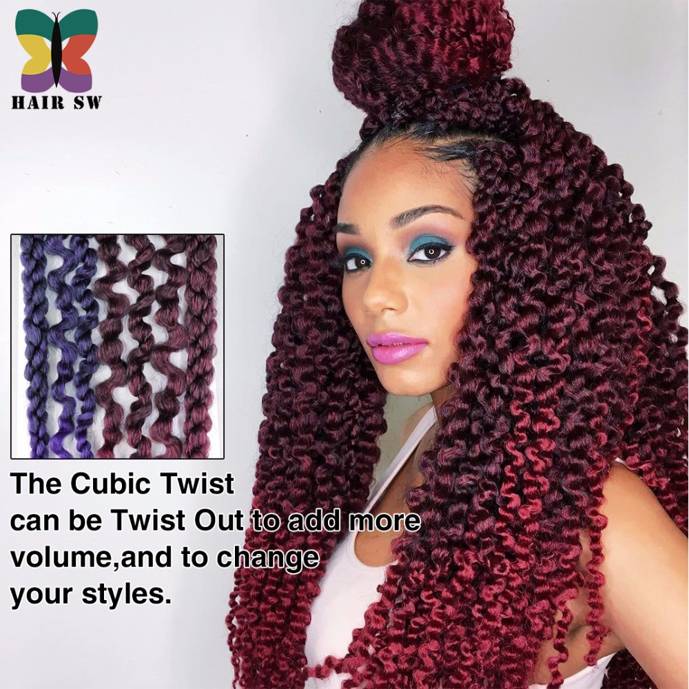 3d Cubic Twist Crochet Braid Ombre Senegal Jumbo Split Twist Hair