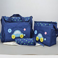 4pcs/set Diaper Bag Car Button Mummy Bag Baby Care Stroller Nappy Organizer For Women Maternity Messenger Bag+Changing Mat