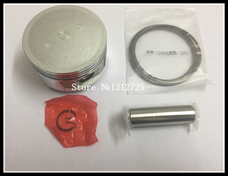 Motosiklet piston halqası CH250 CF250 CN250 ATV moto Piston montaj Pistonun diametri 72mm Piston pin 17mm
