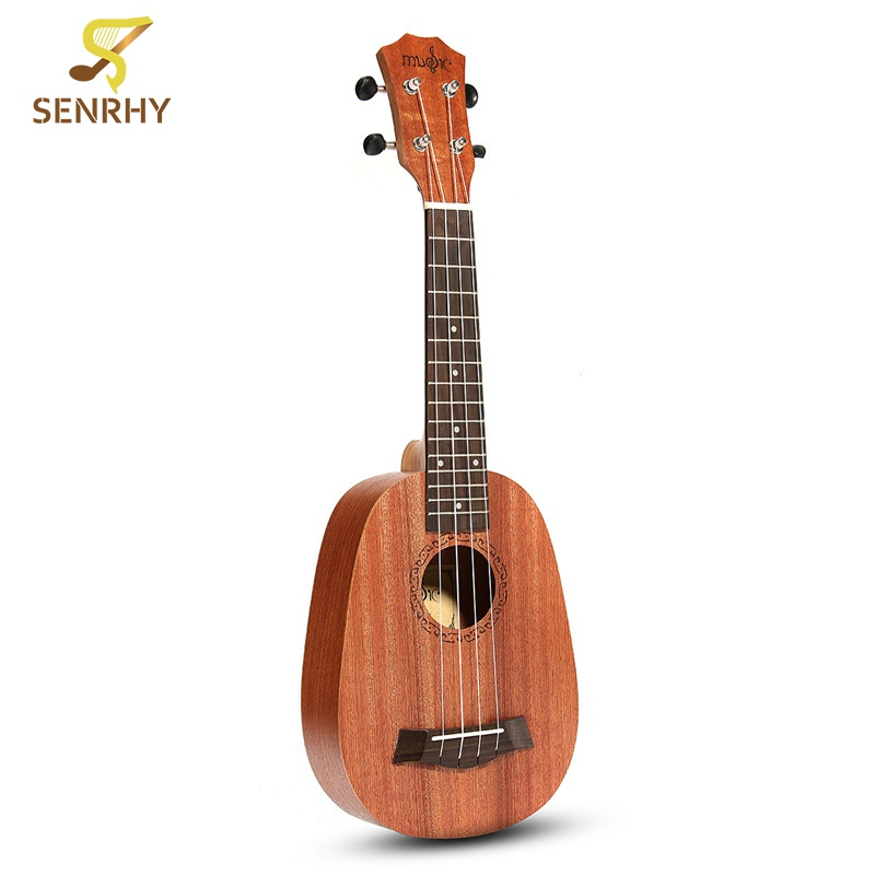 21'' Pineapple Style Mahogany Hawaii Ukulele Uke Electric Bass 4 Strings Guitar Guitarra For Musical Instruments Music Lovers