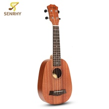 21 Pineapple Style Mahogany Hawaii Ukulele Uke Electric Bass 4 Strings Guitar Guitarra For Musical Instruments