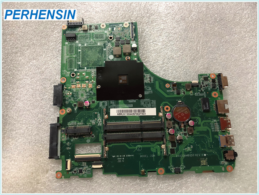 Mainboard NBMLN11004 DA0ZQNMB6D0 for Acer for Aspire E5-521 A4-6210 1.80 GHz 15.6 DDR3L Laptop motherboard 100% WORK PERFECTLYMainboard NBMLN11004 DA0ZQNMB6D0 for Acer for Aspire E5-521 A4-6210 1.80 GHz 15.6 DDR3L Laptop motherboard 100% WORK PERFECTLY