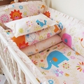 New Cute Cartoon Toddler Baby Bedding Sets Kids Baby Crib Bedding Sets for Girl and Boys Cotton Children Cot Bedding Sets