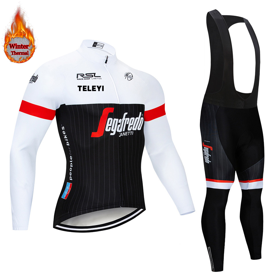 Black And White Long Sleeve Trekking Bike Clothes Thermal Fleece Ropa Roupa Invierno MTB Bicycle Clothing Winter Cycling Jersey