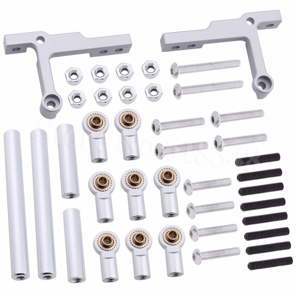 Regolabile in alluminio Sospensione Link Asta di Metallo Fine Set Per 1/10 Tamiya CC01 RC Crawler Parti di Aggiornamento