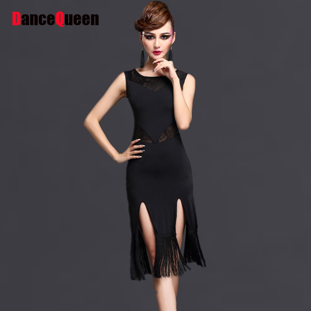 d220444f4c78 Classical Latin Dance Skirts For Ladies Black Red Clothes Fantasia Women  Competitive Paso Doble Fluffy Bullfight Garments E002