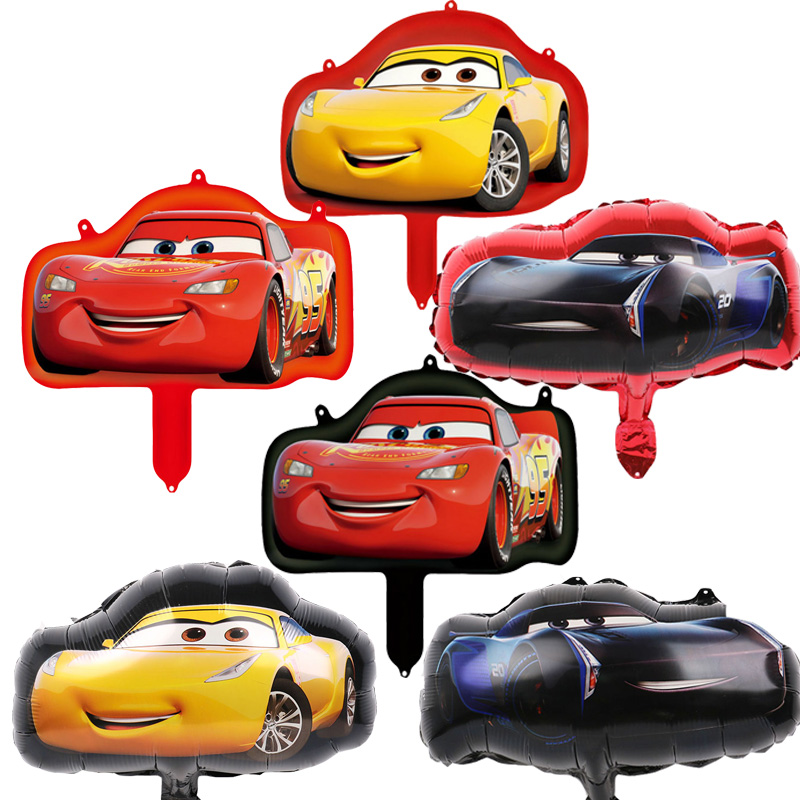 16inch Car Foil Balloons 20pcs Hot Cartoon Mcqueen Theme Party Supplies Air Baloes Happy Birthday Decorations Kids Toy