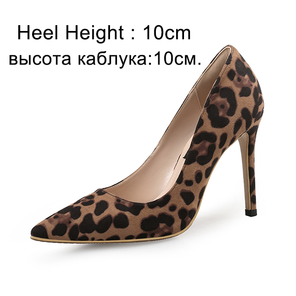 Sexy Donna Pumps High Heels Shoes Spring Leopard Thin Shoes Heels Woman Party Shoes Thin Pl 111c9b