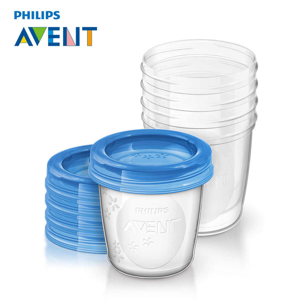 Philips AVENT 5pcs/set Baby Food Storage Cup Breast Milk Storage Cup Seal Preservation Milk Fruit Juice Cup 180ML Box