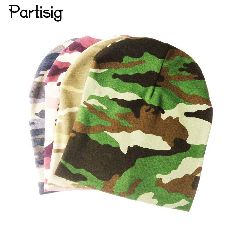 פרטיס המותג הסוואה התינוק כובע כותנה סרוגה Leopard בייבי שווי האביב סתיו חורף כובעים לילדים כובעים