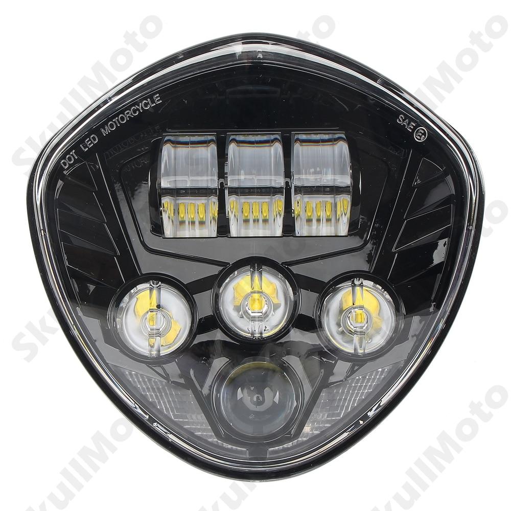 Motorcycle LED Black Headlight 40W For Victory Cruisers Cross Models 2007 2008 2009 2010-2013 2014 2015 2016 -K UNDEFINED annarita n юбка до колена