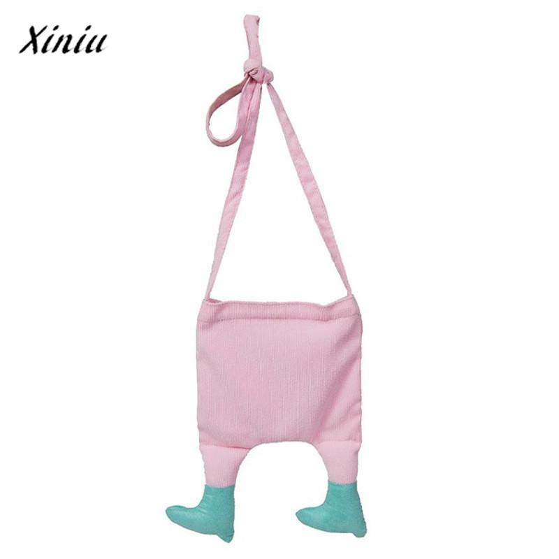 xiniu Girl Shoulder Bags Lovely Kids Canvas Crossbody Bag Coin purse cat purse coin wallet monederos para mujer