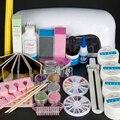 Professional False Nail Art Tips Gel Deco Tools Kit 9W UV Dryer Lamp Tube Set #62