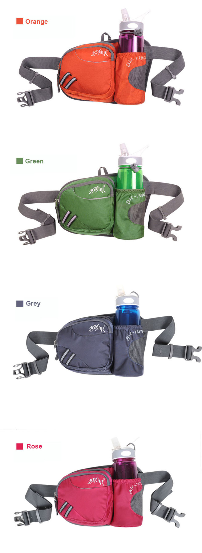 Aonijie Versatile Nylon Kettle Waist Pack Men Women Hydration Belt Bag Blue Green Male Female Fanny Bum Hip Money