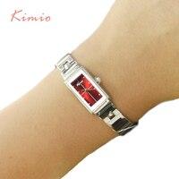 Kimio Brand Woman Bracelet Watch Simple Ladies Rectangle Dress Quartz Watch Stainless Steel Band Wrist Watches