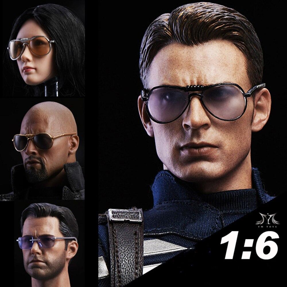 ede375d8e 1/6 Aviadores Óculos De Sol Óculos de Sol Modelo MK47 Tony Óculos Moda  Masculina óculos de Sol Femininos para 12 polegadas action figure boneca