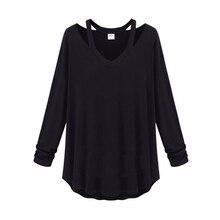 Cosy Fashion Women Shirt Cotton Soft Long Sleeve V Neck Loose Solid Casual T-Shirts Tee Asymetric Hem Tops twist dip hem solid tee