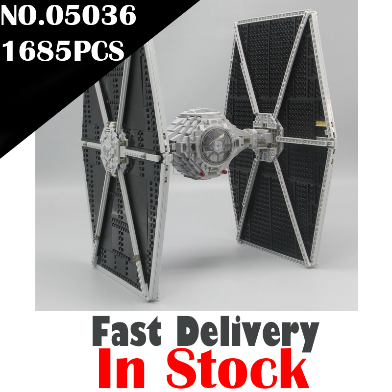 LEPIN 05036 TIE Fighter Star Clone Wars Building Blocks Bricks Enlighten DIY Toys For Kids Model Compatible with legoINGly 75095 цена