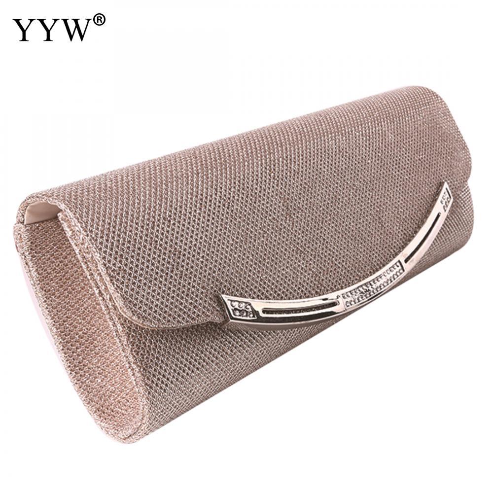 Chic Female Clutches Bag Gold Magnetic Snap Women Handbags Elegant Silver Baguette Bag Black Shoulder Bags Evening Party Bag