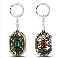 J store 10Pcs/lot Dota 2 Game Metal Keychains Pendant Key Chain Key Ring Men jewelry bag Gift