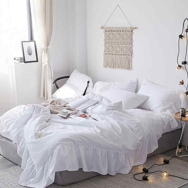 Princess Style Pink White Bedding Set