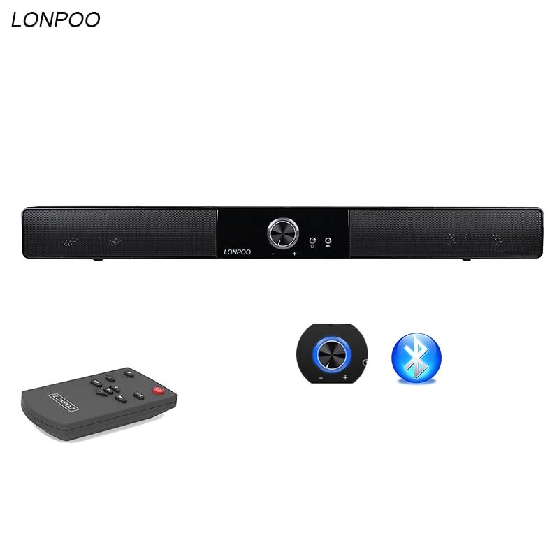 LONPOO Portable Bluetooth Speaker USB Soundbar Column Speaker HIFI 10W Amplifier Stereo Sound Bar desktop for