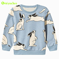 KEAIYOUHUO 2017 Spring Autumn Baby Girls Tops &Tees Cartoon Rabbit Print T-Shirts Sweatshirt Kids Girls T-shirt Children Clothes