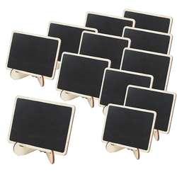 Мини-стол в деревянной рамке номер меловая доска знаки с подставкой, упаковка из 12