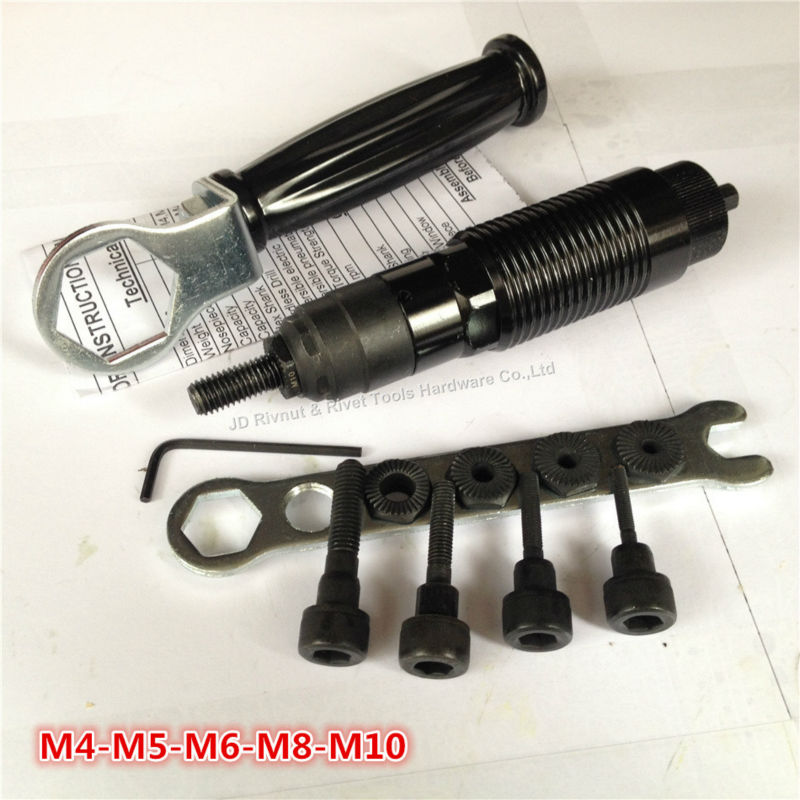 Cordless Drill rivet nut tool M4-M10 battery Riveter Nut Adaptor Cordless Drill Adapter Riveting Tool electric riveter gun ootdty electric rivet gun tool nut