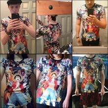 2016 New Men Women Summer ONE PIECE NARUTO Pikachu Cartoon Print O-Neck  Sleeve Boy Girl  Hip Hop 3D Anime T Shirts