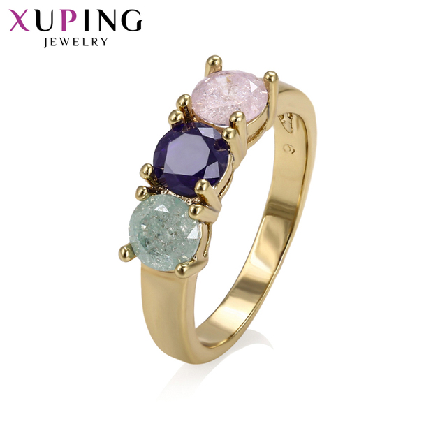 Xuping Elegant Jewelry Ring Color Ice Stone Jewelry for Women Christmas Day Gift