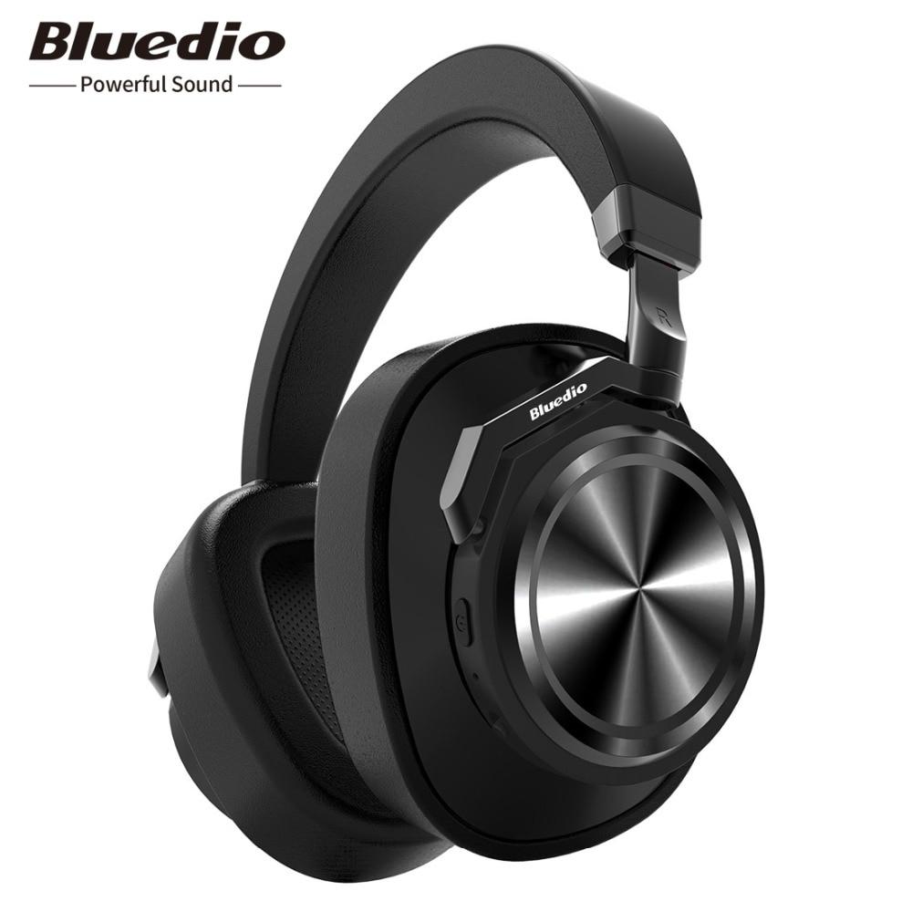 Bluedio T6 Active Noise Cancelling Hoofdtelefoon Draadloze Bluetooth Headset met microfoon voor telefoons en muziek