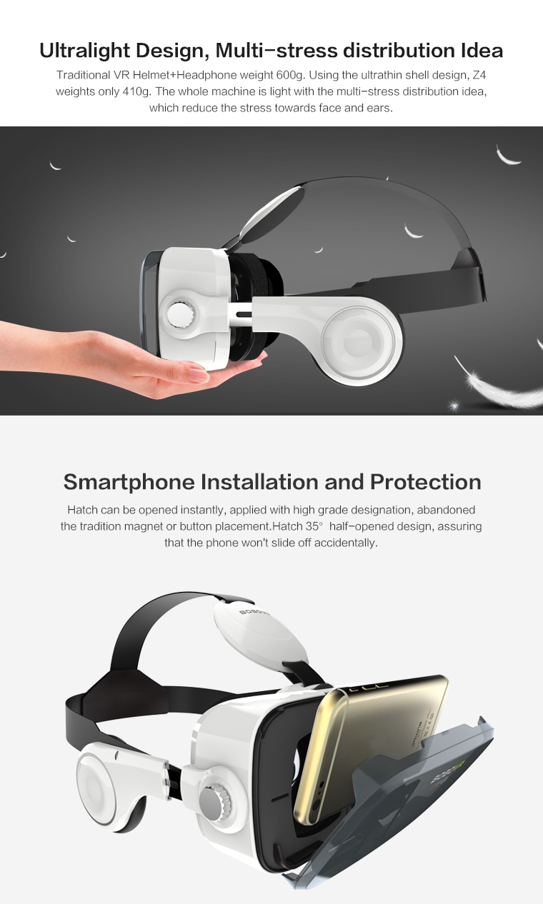 Original brand BOBOVR Z4 xiaozhai Virtual Reality 3D VR Glasses cardboard bobo vr z4 for 3.5 - 6.0 inch smartphones Immersive 10