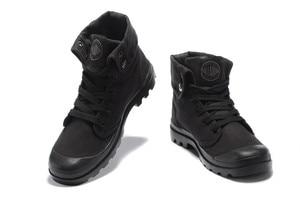 Мужские кроссовки PALLADIUM, черные кроссовки с высоким берцем в стиле милитари, повседневная парусиновая обувь, европейские размеры 39-45