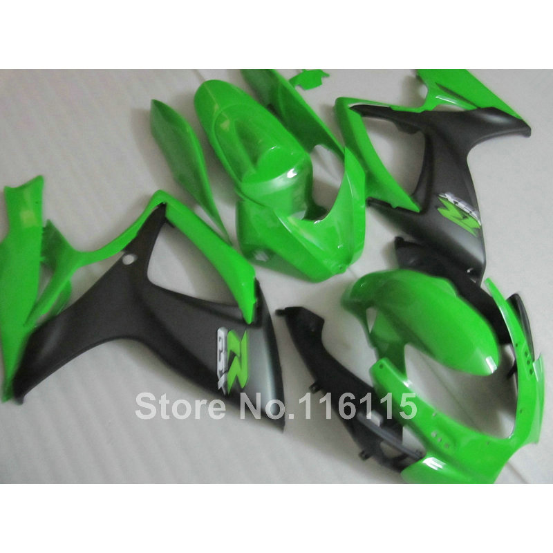 Injection mold  fairing kit for SUZUKI GSXR 600 750 K6 K7 2006 2007 matte green black GSXR600 GSXR750 fairings set 06 07 NF28 часы nixon corporal ss matte black industrial green