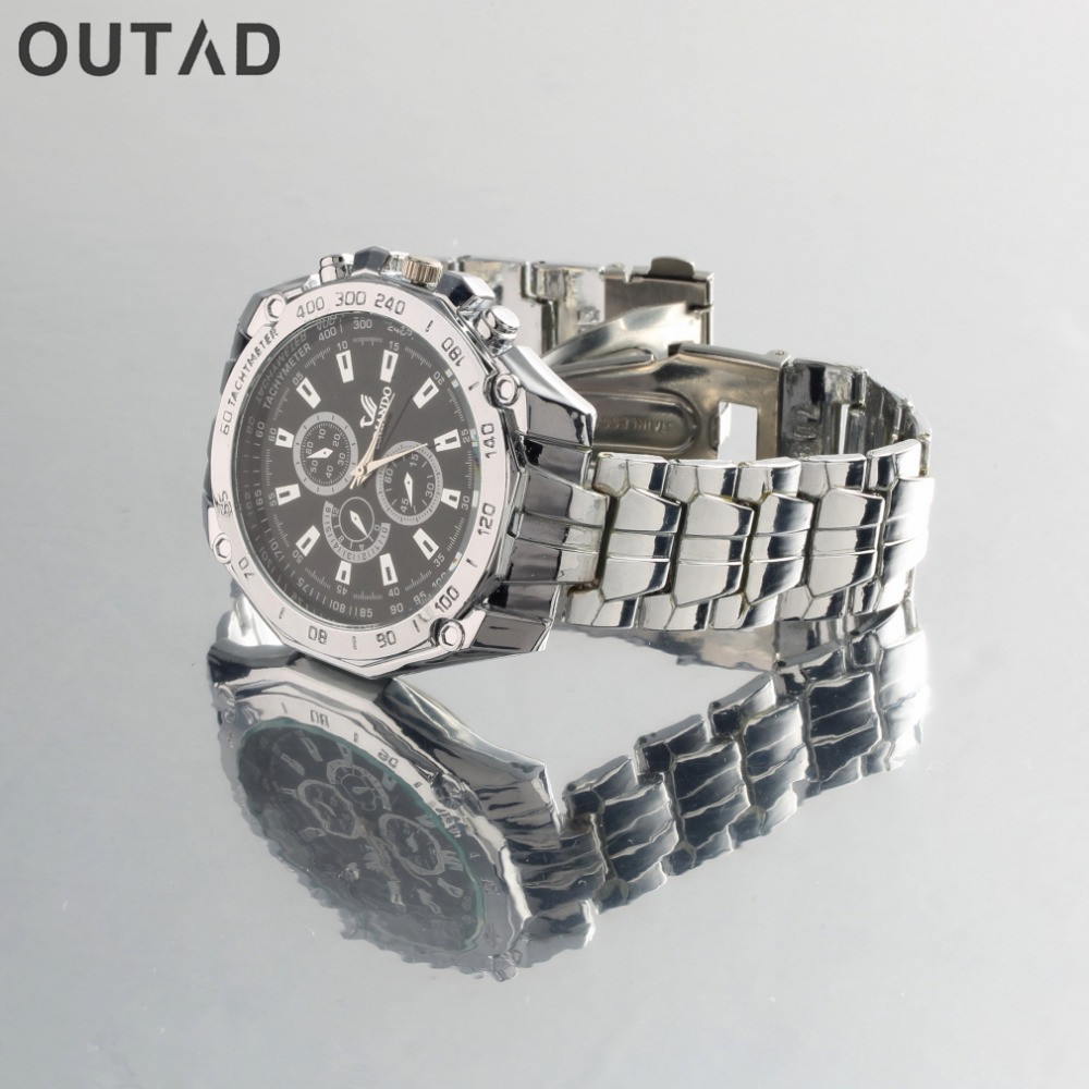 OUTAD Quartz Wrist  watch Luxury Fashion Men's Stainless Steel Analog Hand Watch relogio alloy куклы и одежда для кукол precious кукла спящая красавица в красном 30 см