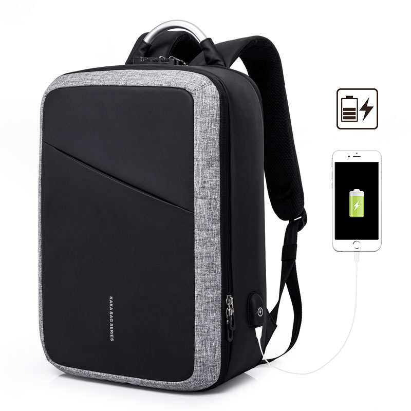M159 New 15 6inch Laptop Backpack Male USB Business Anti theft Backpack for Men Mochila Fashion