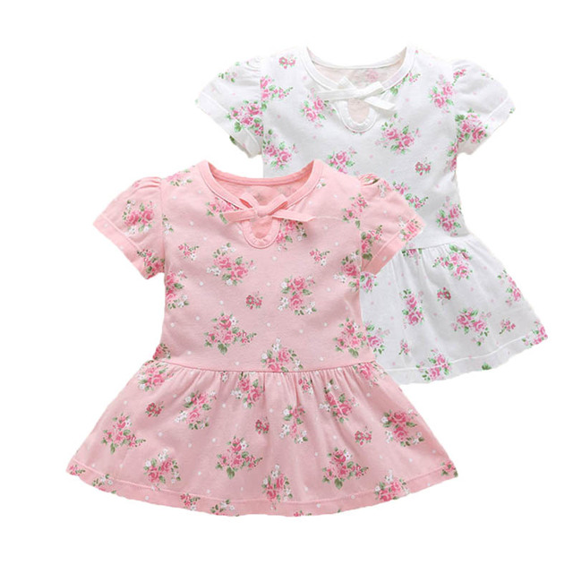 975459ae9 1pc summer girls newborn baby dress floral 0 3 m baby party wedding ...
