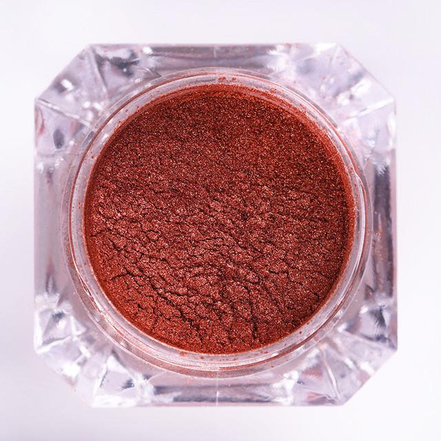 1 Box of 2g Rose Gold Mirror Nail Glitter Powder Dust Manicure Nail Art Glitter Chrome Pigment