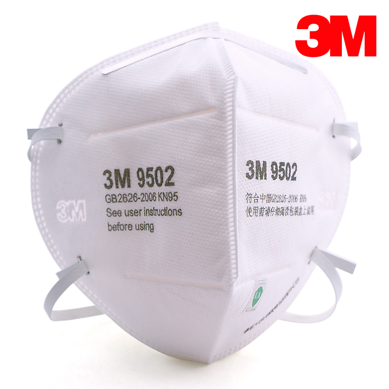 3M 9502 original Dust mask 50pcs KN95 Anti-particulate Matter Anti PM2.5 Smog Protective Industrial Dust Influenza Virus Mask image