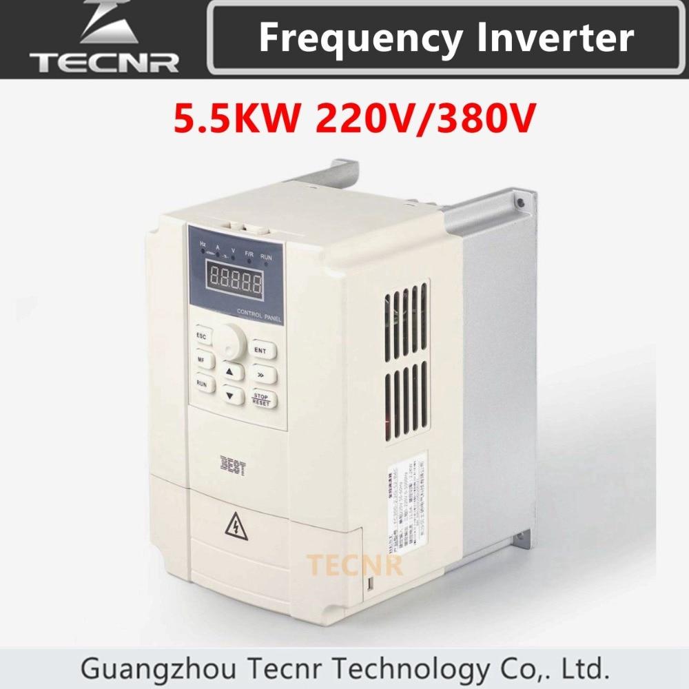 5 5KW variable frequency inverter 220V 380V for cnc spindle motor control