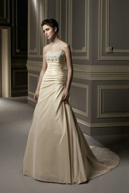 Clásico blusa magnética vaina columna vestido de novia sin tirantes ...