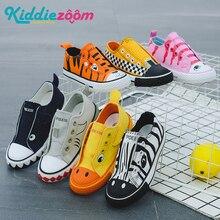 Детская парусиновая обувь унисекс, модные летние кроссовки для мальчиков и девочек, Спортивная дышащая обувь с милыми животными для малышей, 2019