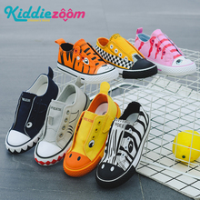 Unisex Kids Canvas Shoes 2019 Summer Children New Fashion Girls Sneakers Boys Sport Shoes Breathable Toddler Shoes Animals Cute