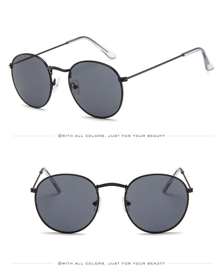 DJXFZLO Retro gafas de sol ovaladas vintage 3