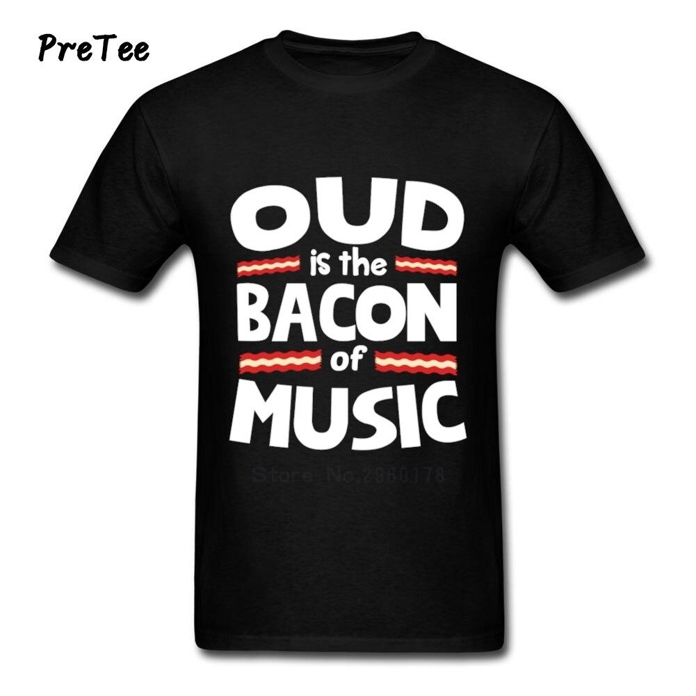 Desain t shirt elegan - Oud Daging Dari Musik Lucu T Shirt Pria T Shirt Pendek Lengan Crew Leher Tshirt