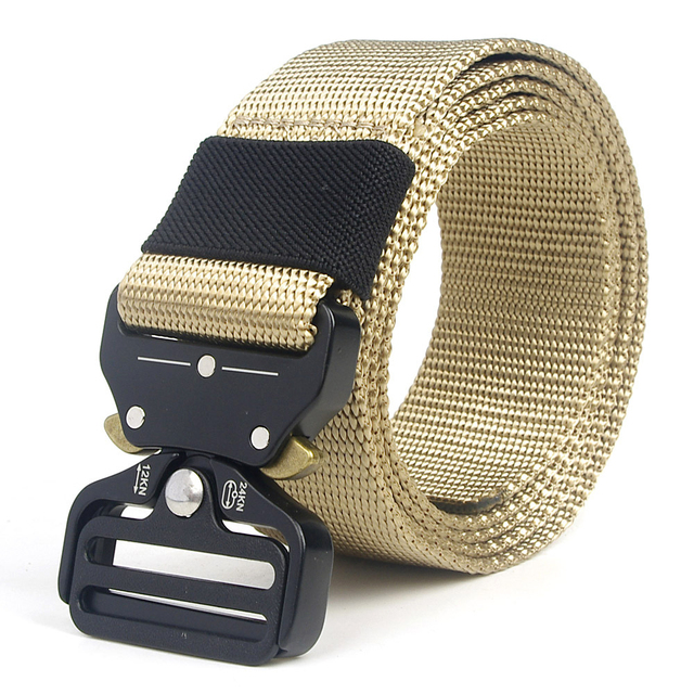 Tactical Belt Men Adjustable Heavy Duty Military Tactical Waist Belts with Metal Buckle Nylon Belt Hunting Accessories 5