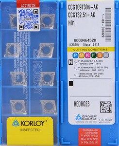 Image 1 - CCGT060202 AK CCGT060204 AK CCGT060208 AK CCGT09T302 AK CCGT09T304 AK CCGT09T308 AK H01 KORLOY alüminyum kullanım insert