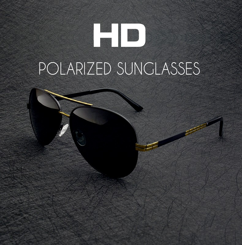 Pilot sunglasses Polarized With Box