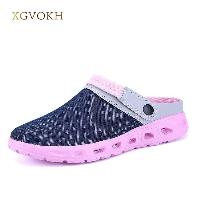 Летние женские сандалии Обувь с дышащей сеткой сандалии Летняя Пляжная женская обувь Water Woman Шлёпанцы для женщин модные Направляющие Дешевая обувь